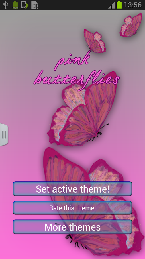 Keyboard Pink Butterflies - screenshot