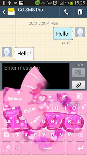 粉色爱心键盘