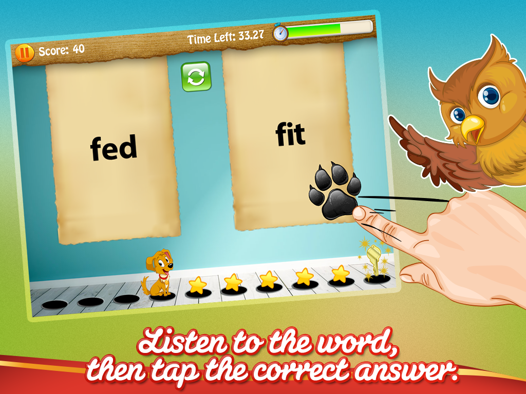 Sight Words Puppy Dash- screenshot