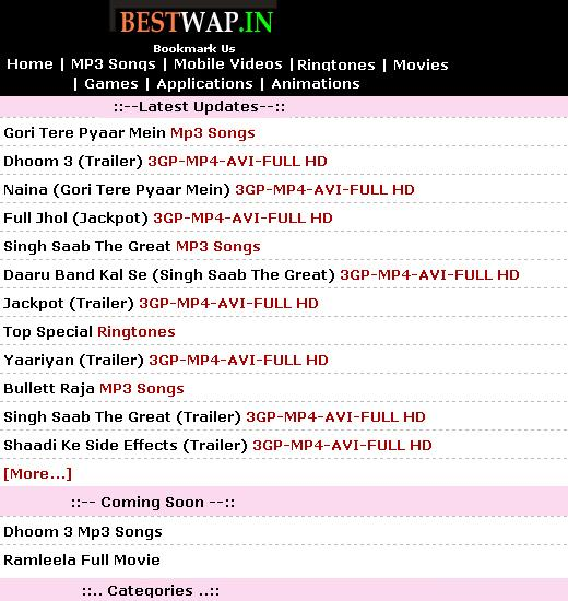 Bestwap.in Free Wap Downloads. - screenshot