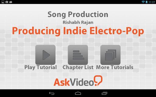 Producing Indie Electro-Pop
