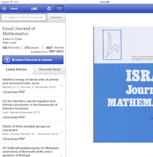 Israel Journal of Mathematics- screenshot thumbnail