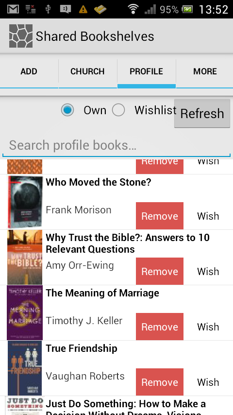 SharedBookshelves- screenshot