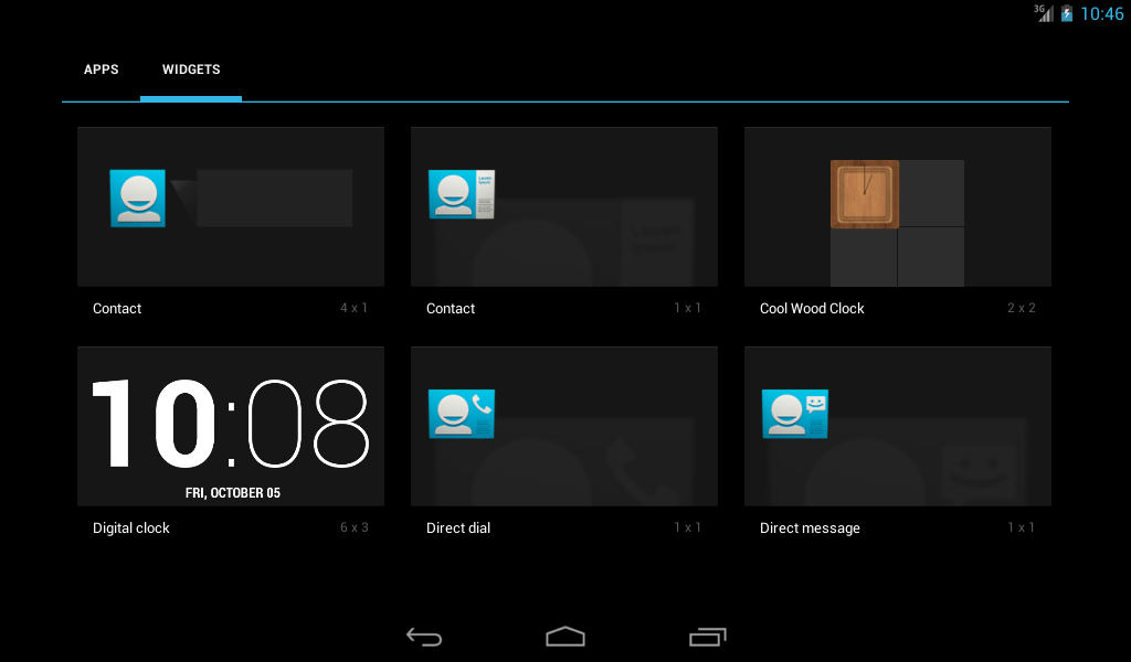 Cool Wood Clock Widget (FREE) - screenshot