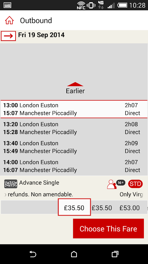 Virgin Trains - screenshot