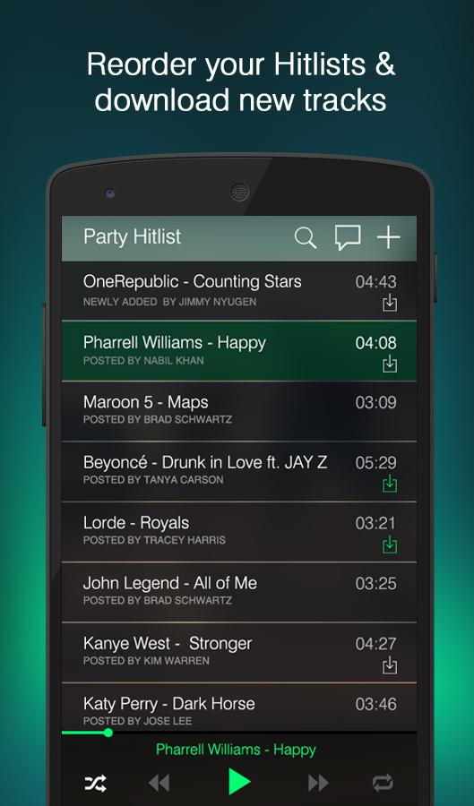 Hitlist - Share Music Player- screenshot