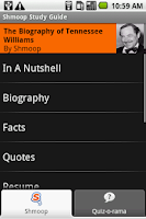 Screenshot of Tennessee Williams: Shmoop