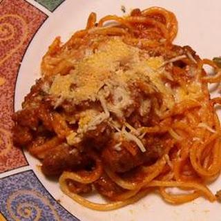 Baked Spaghetti Cakes.