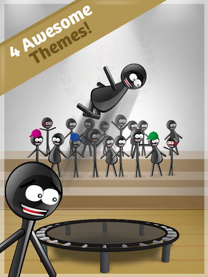 Stickman Trampoline PRO - screenshot