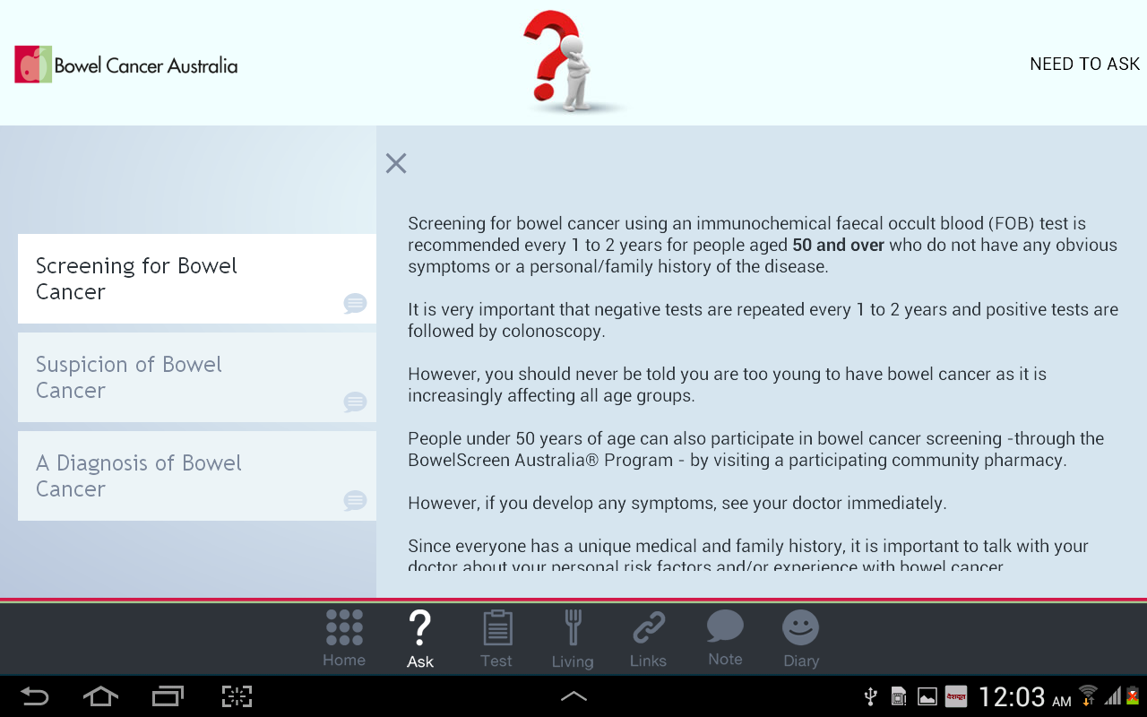 Bowel Cancer - screenshot