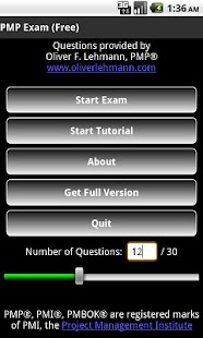 PMP Exam Free - Oliver Lehmann- screenshot thumbnail