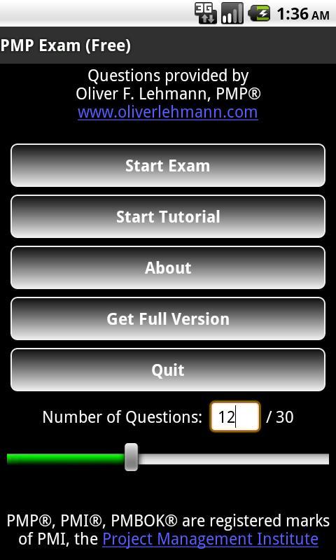 PMP Exam Free - Oliver Lehmann- screenshot
