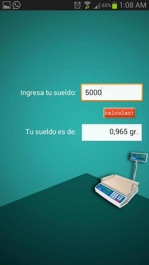 ¿Cuanto pesa mi sueldo? - screenshot