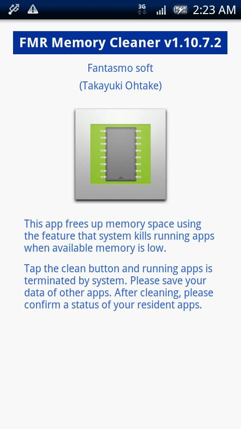 FMR Memory Cleaner- screenshot