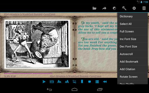 AlReader -any text book reader 1.911805270 screenshots 22