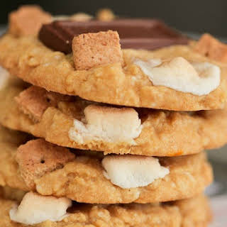 Peanut Butter S'mores Cake Cookies.