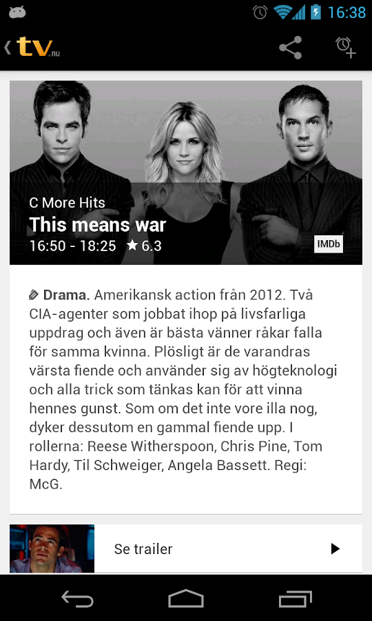 tv.nu - screenshot