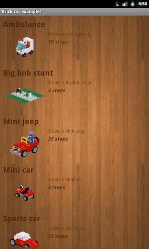 Brick car examples - AdFree