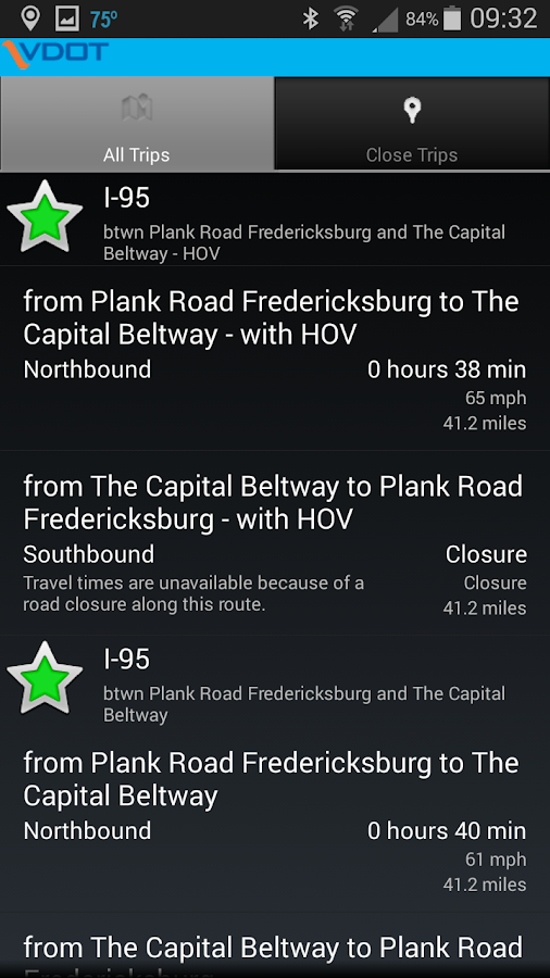 VDOT 511 Virginia Traffic- screenshot