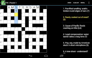 Screenshot of Crossword Cryptic