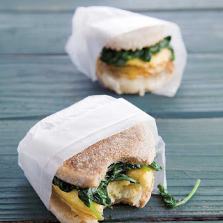 Egg Sandwiches with Wilted Spinach