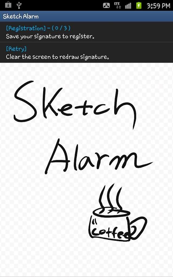 Sketch Alarm -voice, animation- screenshot
