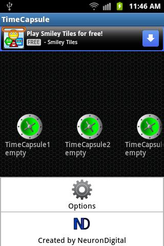 TimeCapsule - screenshot
