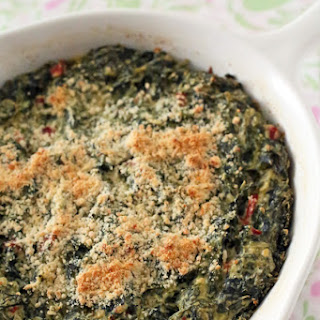 Baked Parmesan & Cream Cheese Spinach Maria