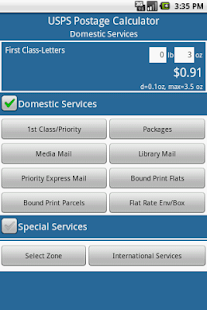 Postage Calculator USPS - screenshot thumbnail