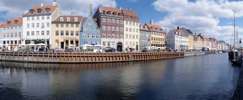 Nyhavn is a waterfront, canal and entertainment district in Copenhagen, dating to the 1600s.