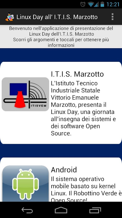Linux Day all'I.T.I. Marzotto - screenshot