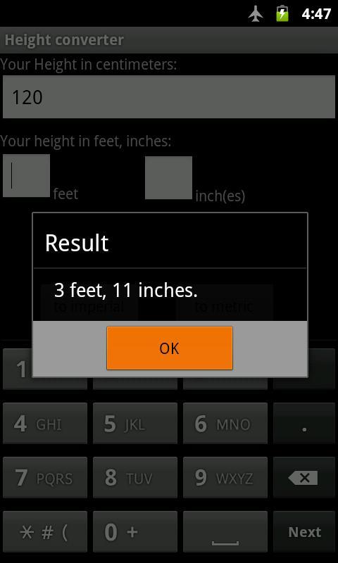 Height Converter- screenshot
