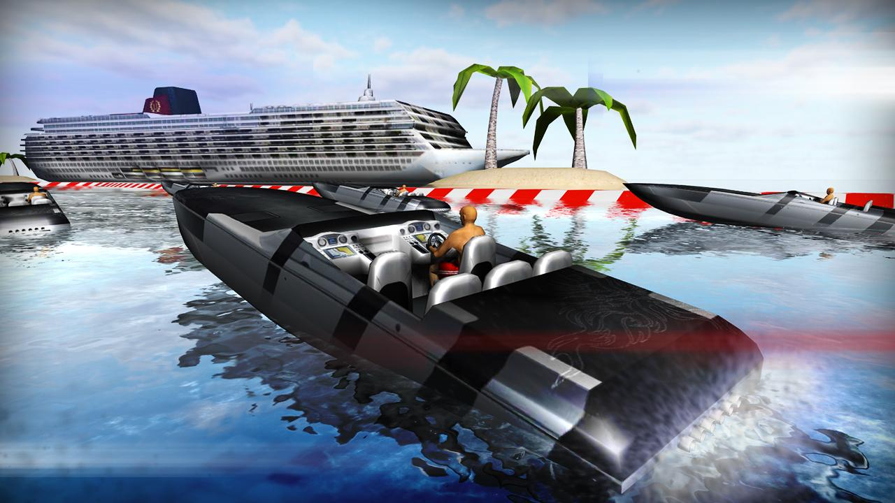 Motor Boat River Run 3D - screenshot