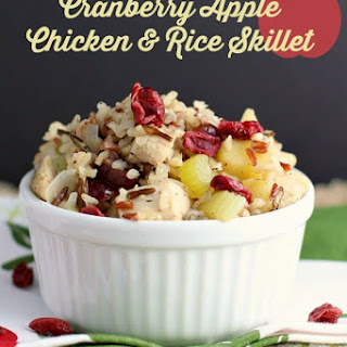 Cranberry Apple Chicken and Rice Skillet Dinner
