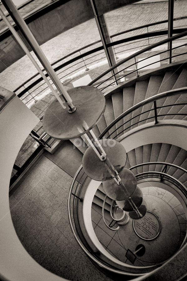 Looking down by Dean Thorpe - Black & White Buildings & Architecture