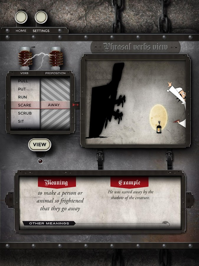 Phrasalstein Tablet- screenshot