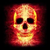 3D Skull Fire LWP