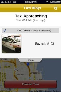 Taxi Mojo - Cab orders with li- screenshot thumbnail