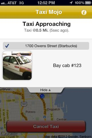 Taxi Mojo - Cab orders with li- screenshot