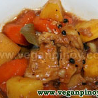 Vegan Chicken Adobo With Pineapple