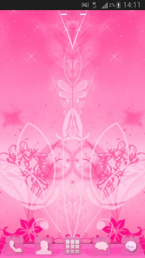 GO Launcher Pink Theme Flowers- screenshot
