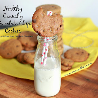 Healthy Crunchy Chocolate Chip Cookies.