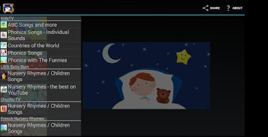 Screenshot of Children song collection