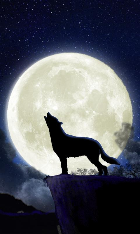 Howling Wolf Live Wallpaper - screenshot