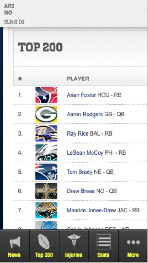 Fantasy Football '12 - screenshot