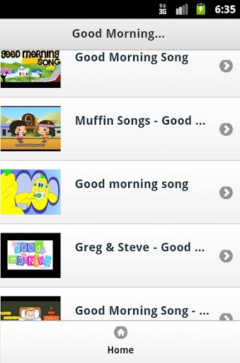 Good Morning Kids Songs