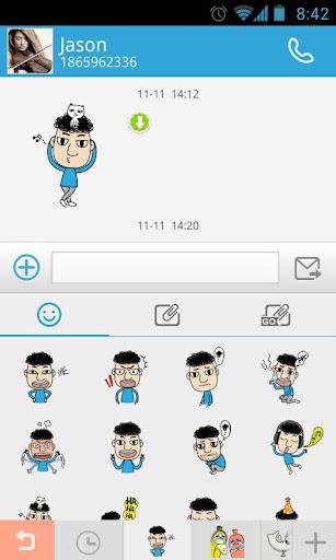 玩通訊App|GO短信加強版Kelvin表情貼圖免費|APP試玩