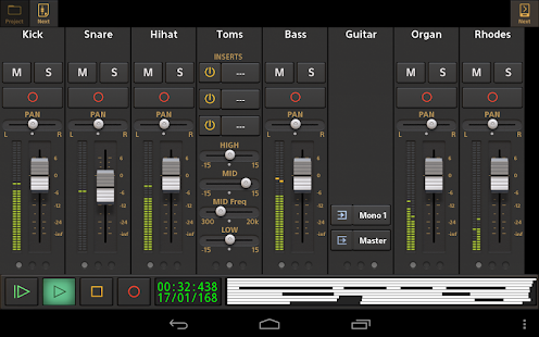 Audio Evolution Mobile Studio Screenshot