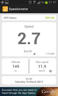 Simple speedometer km/h - mph- screenshot thumbnail