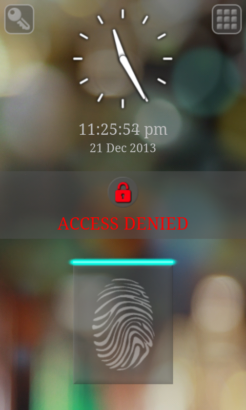 Fingerprint/Keypad Lock Screen - screenshot